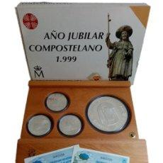 Monedas Juan Carlos I: ESTUCHE AÑO JUBILAR COMPOSTELANO 1999 COLECCIÓN PLATA. Lote 211475721