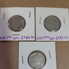 Monedas Juan Carlos I: LOTE DE MONEDAS DE 200 PESETAS AÑOS 86 ,87,88 SIN CIRCULAR. Lote 211828070