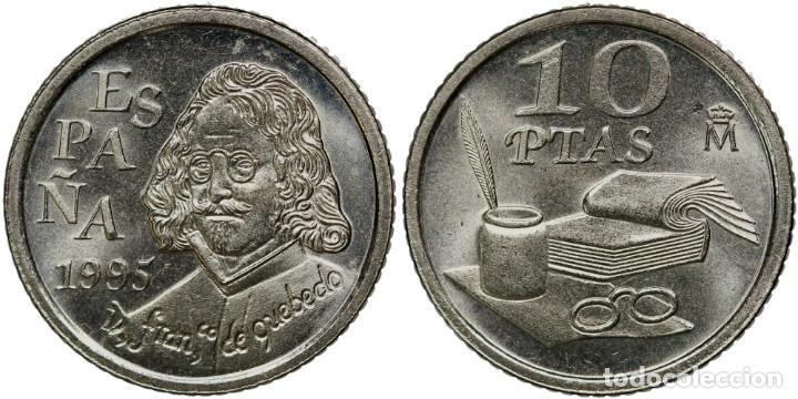 ESPAÑA: 10 PESETAS 1995 QUEVEDO S/C (Numismática - España Modernas y Contemporáneas - Juan Carlos I)