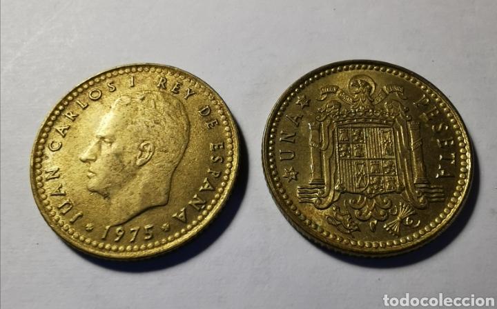 MONEDA ESPAÑA ... JUAN CARLOS I .. 1 PESETA 1975 * 76 (Numismática - España Modernas y Contemporáneas - Juan Carlos I)