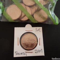 Monedas Juan Carlos I: MONEDA 500 PESETAS 2001 JUAN CARLOS I S/C SACADA DE LA BOLSA ORIGINAL FNMT ESPAÑA. Lote 234976215