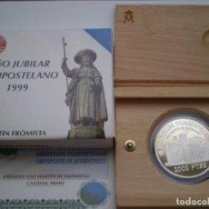 Monedas Juan Carlos I: 2000 PESETAS PLATA 1999. 8 REALES AÑO JUBILAR COMPOSTELANO. SAN MARTIN FRÓMISTA.. Lote 213958577