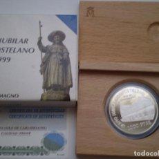 Monedas Juan Carlos I: 2000 PESETAS PLATA 1999. 8 REALES AÑO JUBILAR COMPOSTELANO -SILO DE CARLOMAGNO. Lote 213961313