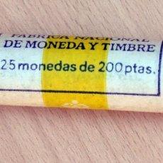 Monedas Juan Carlos I: CARTUCHO DE MONEDAS DE 200 PESETAS 1986. Lote 214343545