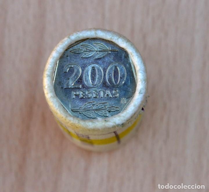 Monedas Juan Carlos I: CARTUCHO DE MONEDAS DE 200 PESETAS 1986 - Foto 3 - 214343545