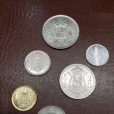 Monedas Juan Carlos I: 6 MONEDAS DE 100, 50, 25, 5, 1 Y 0,5 PESETAS DE DISTINTOS AÑOS. Lote 214847628