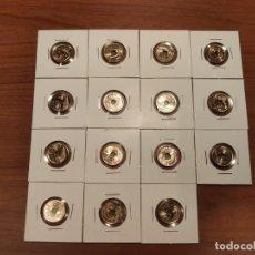 Monedas Juan Carlos I: LOTE COMPLETO 25 PESETAS 1990 - 2001 SIN CIRCULAR EXTRAÍDAS DE BOLSA Y CARTUCHO. Lote 214872958