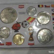 Monnaies Juan Carlos I: CARTERA DEL MUNDIAL! 1980 (*80)! SC! 6 VALORES! SIN CIRCULAR! NARANJITO! AÑO COMPLETO! ESCASA. Lote 224708912