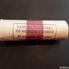 Monedas Juan Carlos I: CARTUCHO 40 MONEDAS DE 25 PESETAS 1975 ESTRELLA 80 JUAN CARLOS I S/C ORIGINAL FNMT ESPAÑA. Lote 215730800