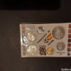 Monete Juan Carlos I: CARTERA MUNDIAL 82 ESPAÑA 6 MONEDAS DEL 1980 S/C ORIGINAL. Lote 215840208