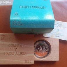 Monedas Juan Carlos I: 2000 PESETAS 1994 I SERIE CULTURA Y NATURALEZA - GARZAS IMPERIALES. 8 REALES PLATA. Lote 215900067