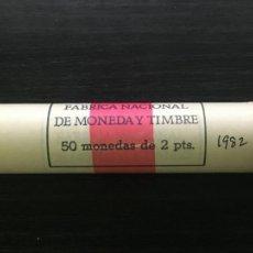 Monete Juan Carlos I: CARTUCHO MONEDAS JUAN CARLOS I - 50 MONEDAS 2 PESETAS 1982. Lote 217352890
