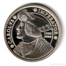 Monedas Juan Carlos I: ESPAÑA 2000 PESETAS PLATA 2000 PROOF CARLOS V - BUSTO DE LOS TAKERS DE LÜBECK. Lote 236391465