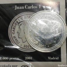 Monedas Juan Carlos I: MONEDA JUAN CARLOS I 2.000 PESETAS 2001. Lote 218153705