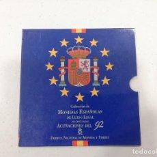 Monedas Juan Carlos I: CARTERA PESETAS ESPAÑA 1992 FNMT 10 MONEDAS. Lote 218191051