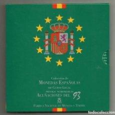Monedas Juan Carlos I: CARTERA SET OFICIAL FNMT MONEDAS 1993. Lote 218222097
