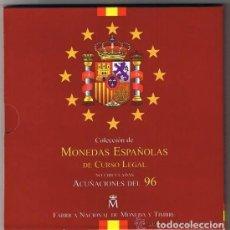 Monedas Juan Carlos I: CARTERA SET OFICIAL FNMT MONEDAS 1996. Lote 218223202