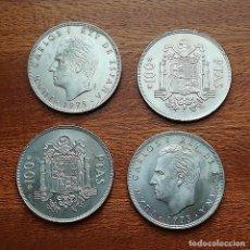 Monedas Juan Carlos I: 4 MONEDAS 100 PESETAS 1975 *76. Lote 218686057