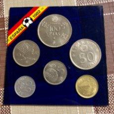 Monedas Juan Carlos I: LOTE DE MONEDAS PESETAS DEL MUNDIAL ESPAÑA 82 EXPOSITOR ACRILICO (MBE+). Lote 219564121