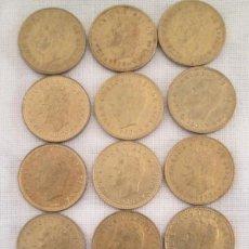 Monedas Juan Carlos I: 18 MONEDAS DE 1 PESETA DE 1980, 6 SERIES CON * 1980, 1981 Y 1982. JUAN CARLOS I ESPAÑA 82. Lote 220097590
