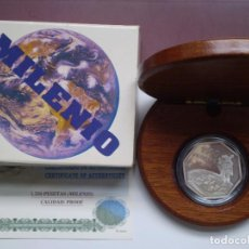 Monedas Juan Carlos I: 1500 PESETAS 1999 JUAN CARLOS I. MILENIO ASTRONAUTA (EXAGONAL) PLATA.. Lote 220671233
