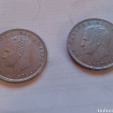 Monedas Juan Carlos I: 2 MONEDAS DE 100 PESETAS 1975 *76. Lote 221618362