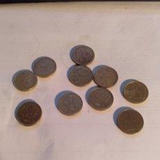 Monedas Juan Carlos I: 10 MONEDAS DE 5 PESETAS FINALES SIGLO XX Y 2000. Lote 221627138
