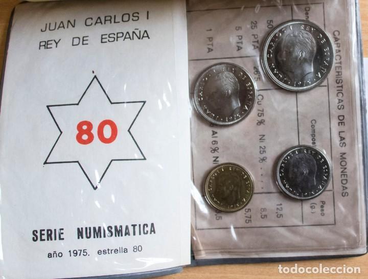 Monedas Juan Carlos I: CARTERA SERIE NUMISMATICAS 1975 *80 SIN CIRCULAR - Foto 2 - 264206916