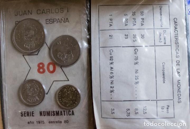 Monedas Juan Carlos I: CARTERA SERIE NUMISMATICAS 1975 *80 SIN CIRCULAR - Foto 3 - 264206916