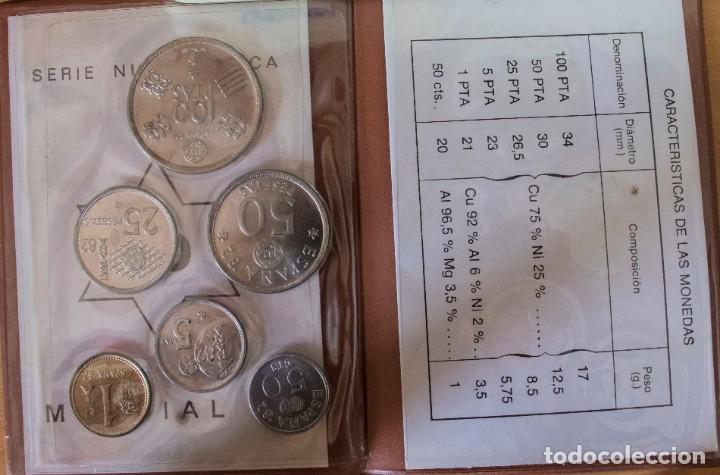 Monedas Juan Carlos I: CARTERA MARRON OSCURO SERIE NUMISMATICAS MUNDIAL DEL FUTBOL 1980 *80 SIN CIRCULAR - Foto 3 - 221705235