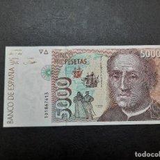 Monedas Juan Carlos I: BILLETE DE 5000 PESETAS DE JUAN CARLOS I.DEL AÑO 1992.S/C. PLANCHA!!. Lote 221712690