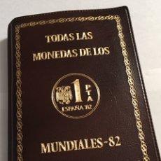 Moedas Juan Carlos I: CARTERA NUMISMATICA , TODAS LAS MONEDAS DEL MUNDIAL 82 *80 , *81 Y *82 S/C.. Lote 240851385