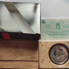 Monedas Juan Carlos I: ESPAÑA 5000 PESETAS PLATA 1991 FDC PIZARRO Y ATAHUALPA - V CENTENARIO III SERIE. Lote 221943902