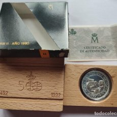 Monedas Juan Carlos I: ESPAÑA 5000 PESETAS PLATA 1990 FDC ARTESANIA INDIGENA - V CENTENARIO II SERIE. Lote 221945371