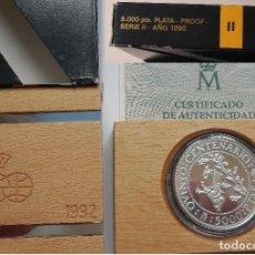 Monedas Juan Carlos I: ESPAÑA 5000 PESETAS PLATA 1990 PROOF ARTESANIA INDIGENA - V CENTENARIO II SERIE. Lote 221946238