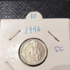 Monedas Juan Carlos I: 10 PESETAS DE 1996, SIN CIRCULAR. P BAZÁN. Lote 222070195