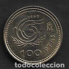 Monnaies Juan Carlos I: MONEDA DE 100 PESETAS + JUAN CARLOS I - 1999. Lote 222386992