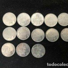 Monedas Juan Carlos I: LOTE 13 MONEDAS 1 PESETA 1989-2001 COLECCIÓN COMPLETA #KM832 ALUMINIO 14MM. Lote 222417355