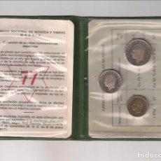 Monedas Juan Carlos I: CARTERA DE MONEDAS COLECCIÓN DE LAS PRUEBAS DE 1975 *77. SIN CIRCULAR (75-77). Lote 222442973