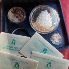 Monedas Juan Carlos I: CINCUENTIN DE 25 ECU. 5 ECUS. 1 ECU. PLATA 1995 EN ESTUCHE. MARINA ESPAÑOLA. Lote 222491741