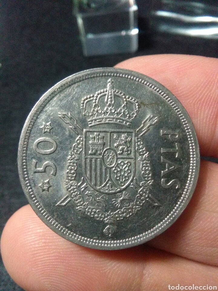 Monedas Juan Carlos I: Moneda 50 pesetas juan carlos I 1975*79 - Foto 4 - 222728033
