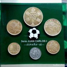 Monedas Juan Carlos I: COLECCIÓN MONEDAS DEL MUNDIAL 82, JUAN CARLOS II. Lote 223453586