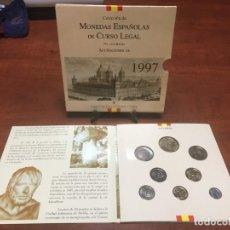 Monedas Juan Carlos I: MONEDAS ESPAÑOLAS NO CIRCULADAS 1997 CARPETA CON 8 MONEDAS. Lote 263215505