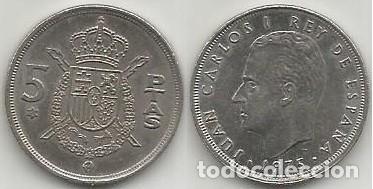 ESPAÑA 1975 *78 - 5 PESETAS - CECA CANADA - KM 807 - CIRCULADA (Numismática - España Modernas y Contemporáneas - Juan Carlos I)