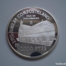 Monedas Juan Carlos I: 2000 PESETAS PLATA 1999 ESPAÑA JUAN CARLOS I SERIE JACOBEO. AÑO JUBILAR COMPOSTELANO -SILO DE CARLO. Lote 224398881