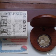 Monedas Juan Carlos I: 1500 PESETAS 2000 JUAN CARLOS I. MILENIO IMPRENTA (EXAGONAL) PLATA.. Lote 224400358