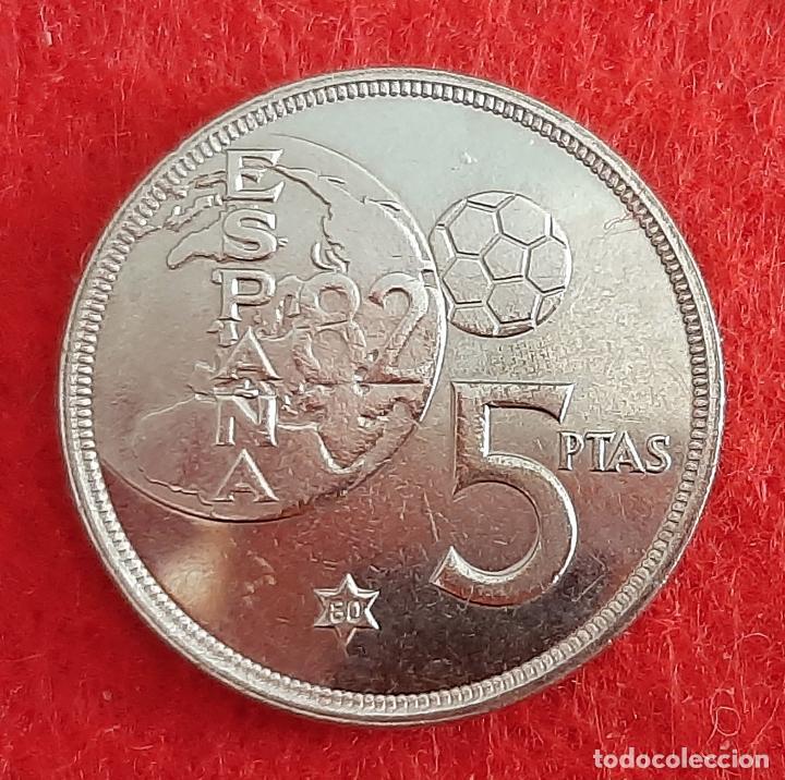Monedas Juan Carlos I: MONEDA 5 PESETAS 1975 ESTRELLA 80 EBC+ REVERSO MUNDIAL DURO ERROR ORIGINAL M1263 - Foto 2 - 224894821