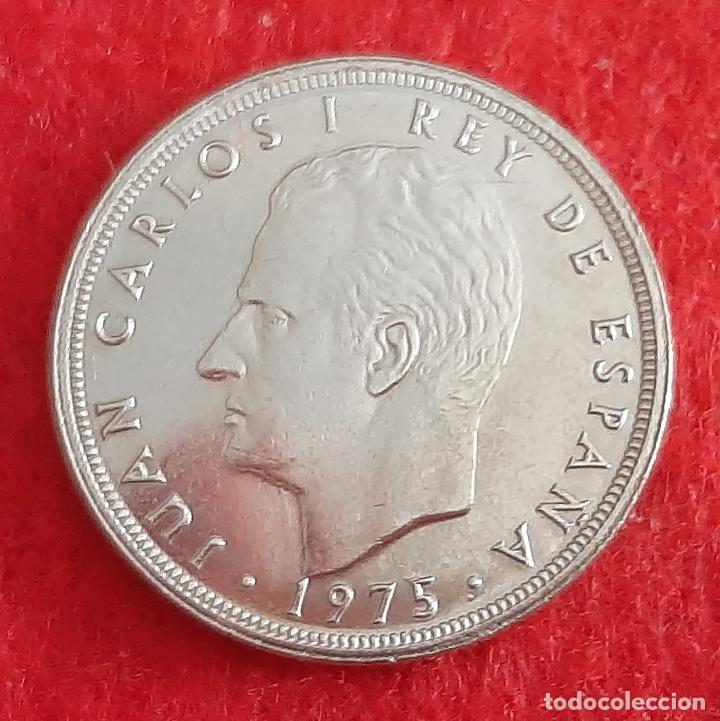 MONEDA 5 PESETAS 1975 ESTRELLA 80 EBC+ REVERSO MUNDIAL DURO ERROR ORIGINAL M1263 (Numismática - España Modernas y Contemporáneas - Juan Carlos I)