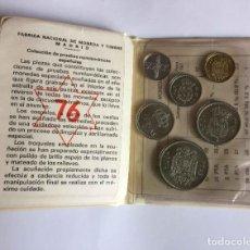 Monedas Juan Carlos I: 6 MONEDAS: *1975 PRUEBAS (FNMT, 1976). JUAN CARLOS I. CARTERA. SIN CIRCULAR ¡COLECCIONISTA!. Lote 225365957