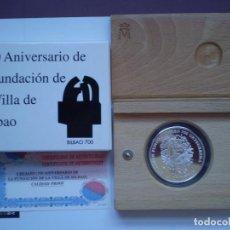 Monedas Juan Carlos I: 2000 PESETAS PLATA AÑO 2000. 700 ANIVERSARIO DE LA FUNDACIÓN DE BILBAO. Lote 225803925